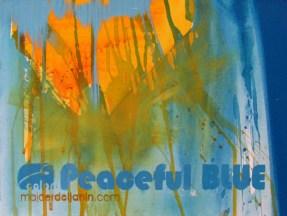 PEACEFUL BLUE, 30 x 40 cm