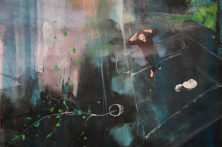 SMELL OF SPRING, 200 x 75 cm, 2018 (DETAIL)