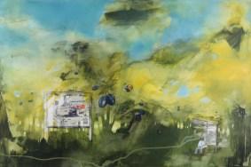 PANTA RHEI: PLUM JAM, 90 x 120 cm, 2017