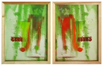 COMPASSIONATE GREEN, 40 x 30 cm,