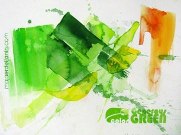 GENEROUS GREEN, 30 x 40 cm