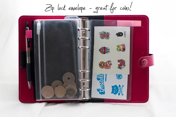 Filofax_zip_envelope_coins_stickers