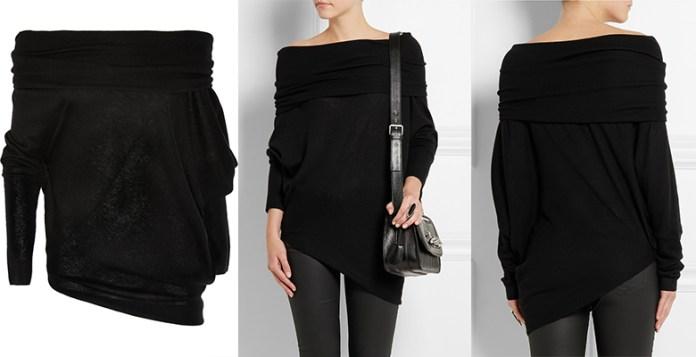 Donna Karan Asymmetric Cashmere Sweater