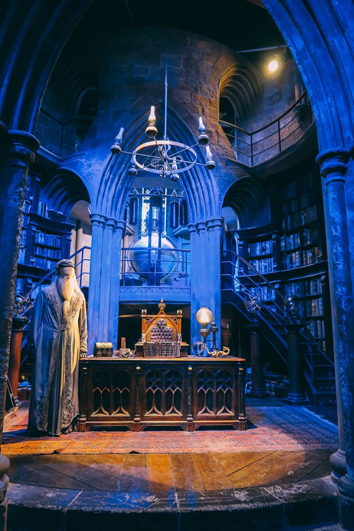 Dumbledore's office at the Warner Brothers Studio Tour in London