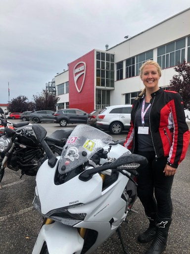 Maja and Bella, the Ducati
