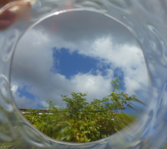 Sky through glass
