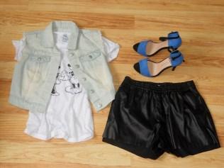 H&M shorts, Mango t-shirts, Primark denim jacket and shoes