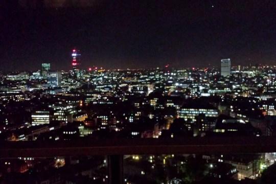 Sky view at night, La Nuit at Galvin Windows