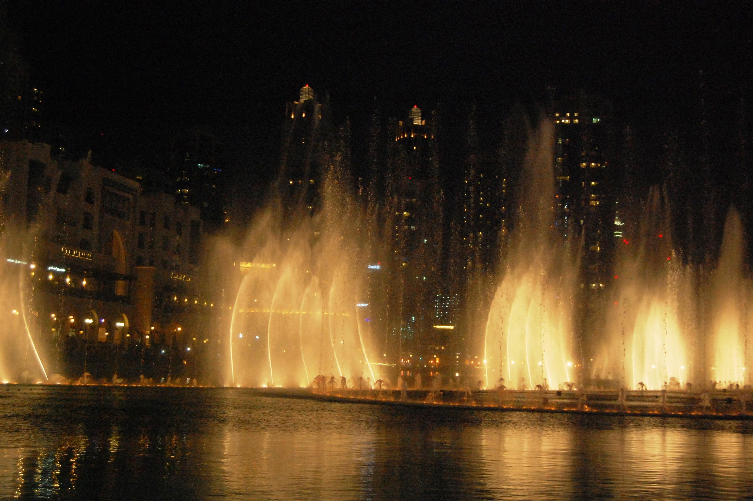 dubai mall water show