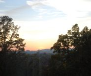 last October sunset