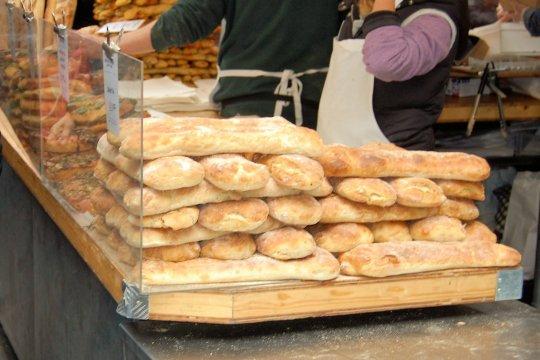 bread stall Borough Market