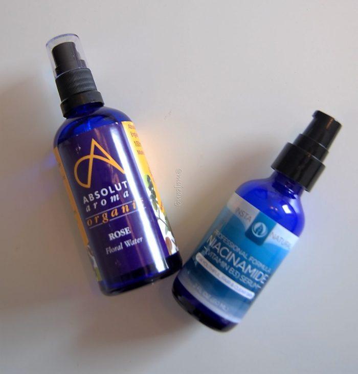 Rose water toner and Vitamin B3