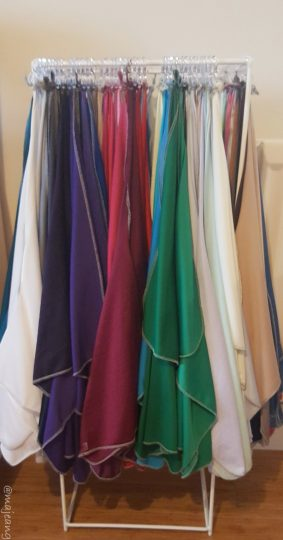having your colours done fabric swatches