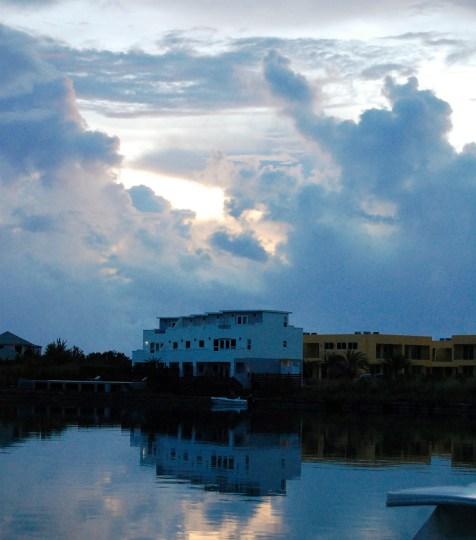 sunset over water Antigua