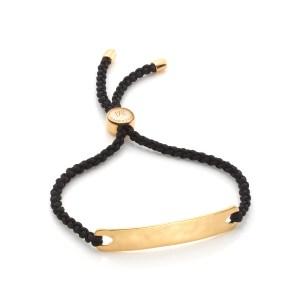Affordable luxury giftguide-Monica Vinader friendship bracelet black