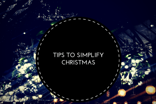 Tips to simplify christmas