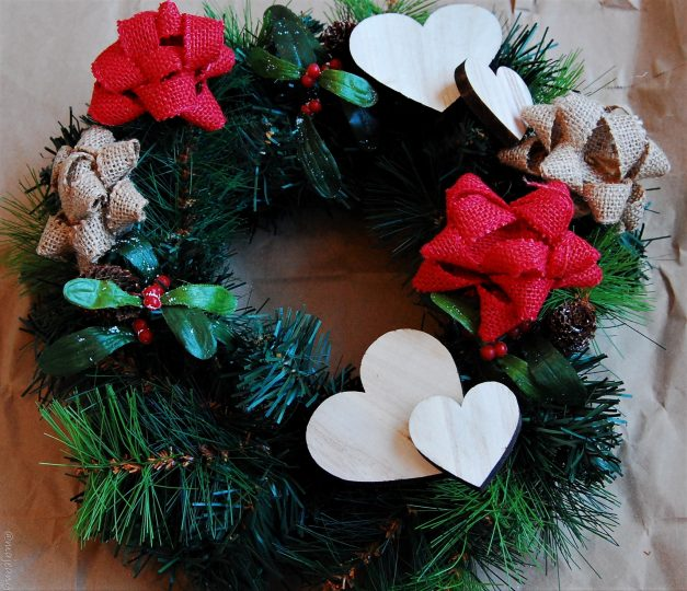 diy wreath incomplete