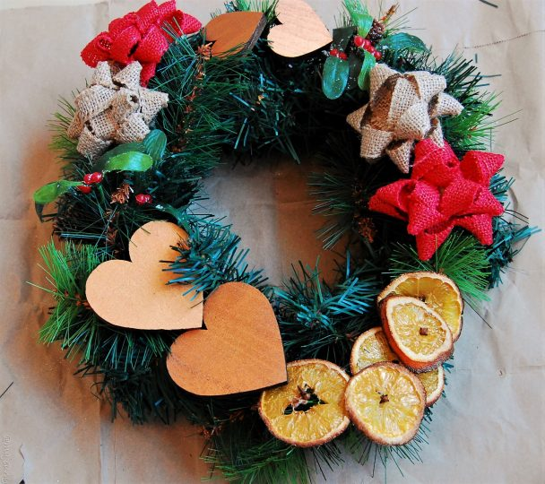 diy wreath final