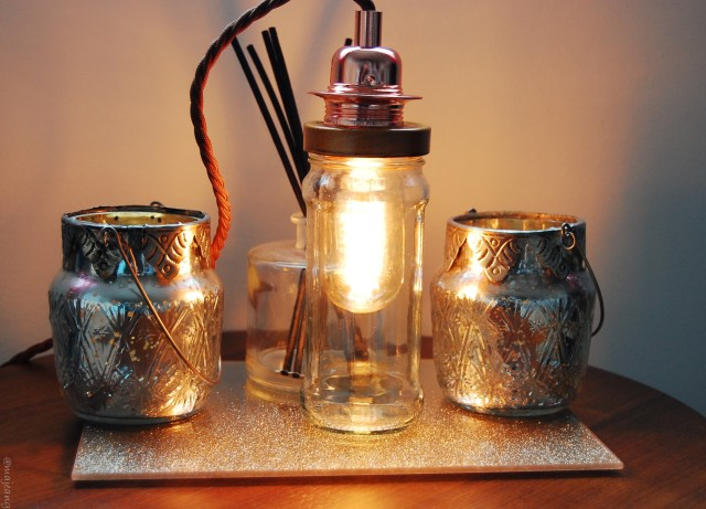 diy edison bulb lamp- completed
