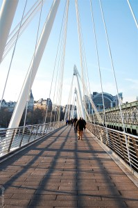 24 hours in london- hungerford bridge