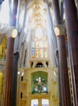 Inside La Sagrada familia, barcelona