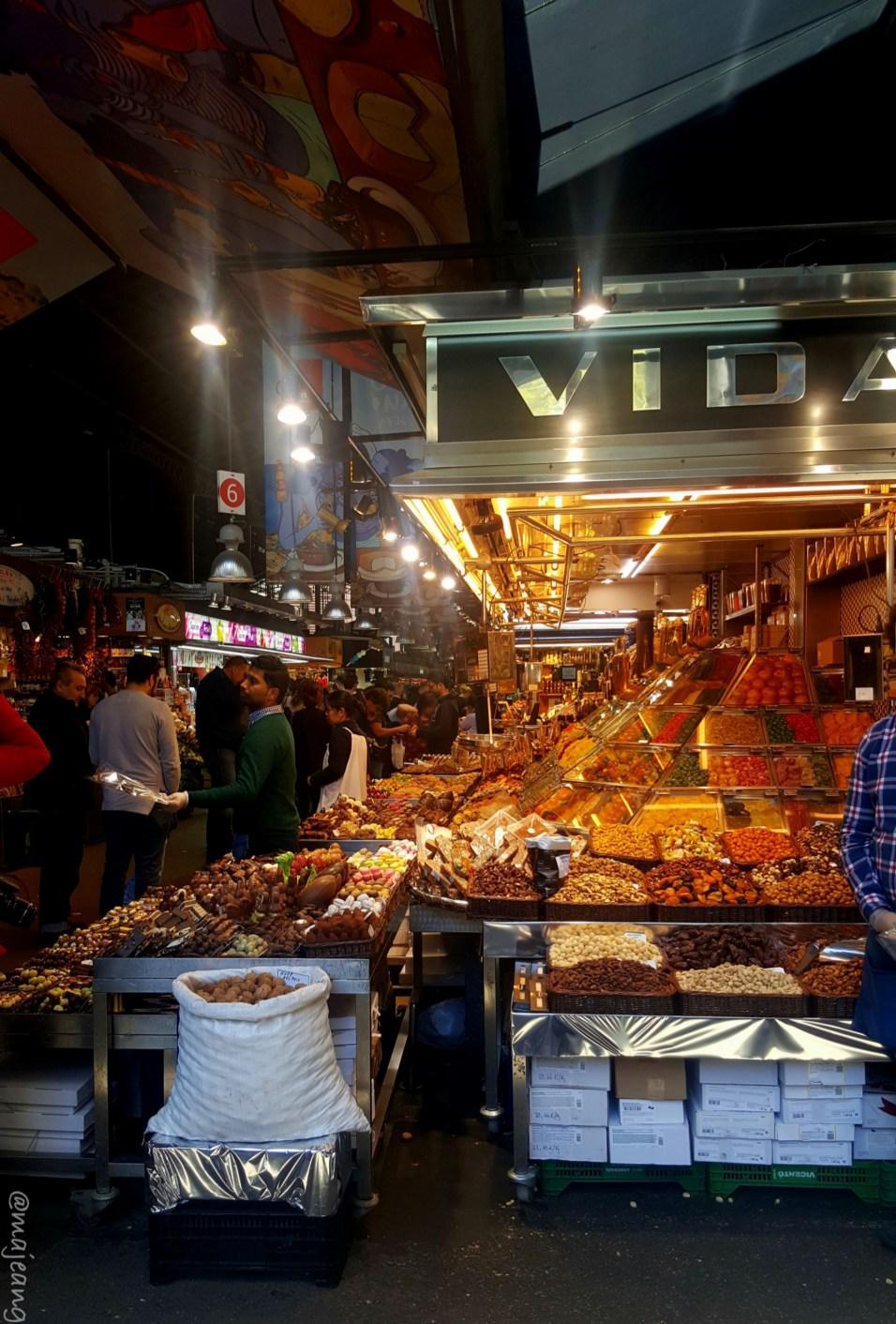 post-holiday blues, Las Ramblas market