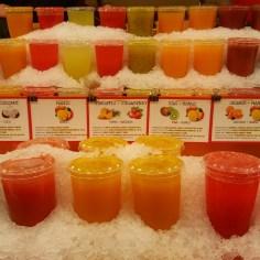 Las Ramblas market, fresh juices