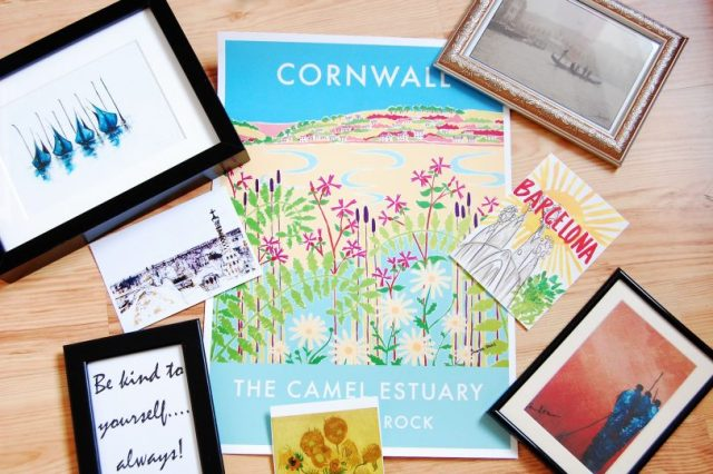 creating a wall gallery postcards and prints