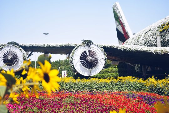 places worth visiting in dubai - Emirates plane