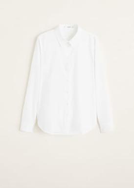 spring edit mango essential range- white shirt