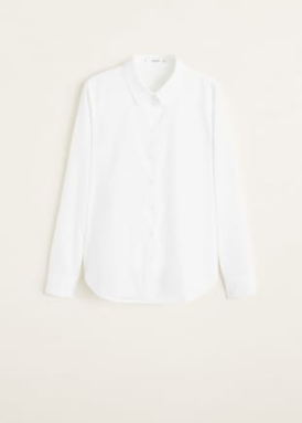 spring edit mango essential range- white shirt