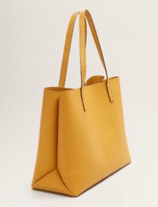 spring edit mango essential range- shopper bag in mustard