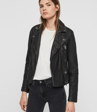 3 must have coats for autumn- all saints cargo leather biker jacket
