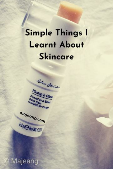 Simple things I learnt about skincare- majeang.com