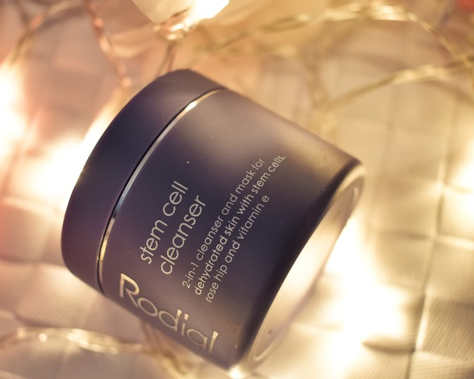 easy ways to care for your skin during the holidays- Rodial stem cell cleanser