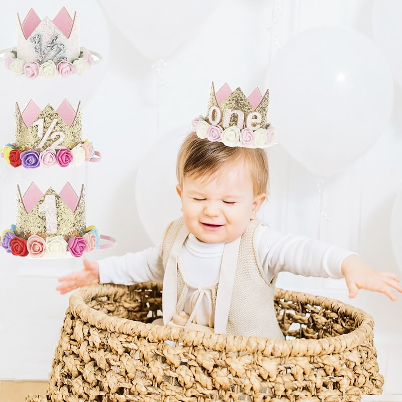 Baby Birthday Crown First Birthday Crown Majestic Crowns