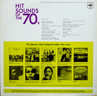 Hit Sounds Of The '70s - back cover