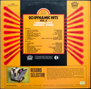Majestic - Dynamic Hits 3 - TA244 - Back cover