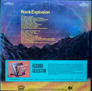 Majestic - Rock Explosion - TA247 - Back cover