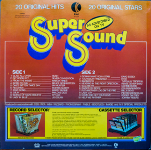 Ktel - Super Sound - TA254 - Back cover