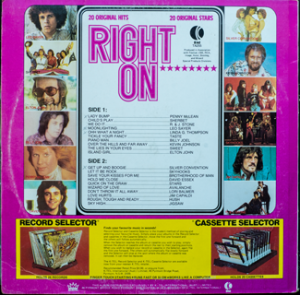 Ktel - Right On - TA255 - Back cover