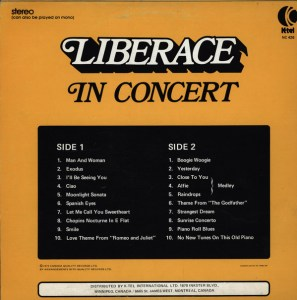 Ktel - Liberace in Concert - NC461 - Back cover