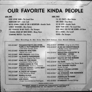 W&G - Our favourite kinda People Vol. 2 - back cover.