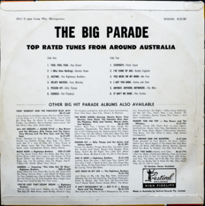 Festival - Big Parade - FL31767 - Back Cover