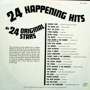 Majestic - Happening Hits - HH600 - Back cover