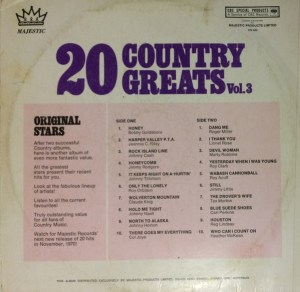 Majestic - 20 Country Greats 3 - Back cove