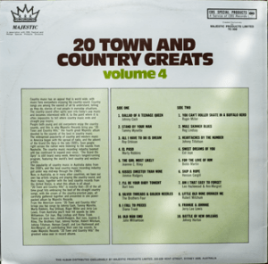Majestic - Town & Country Greats 4 - TC300 - Backcover