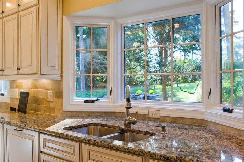 simple kitchen replacement window ideas