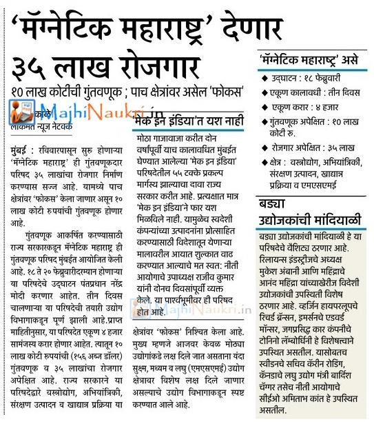 Magnetic Maharashtra Recruitment 2018-19