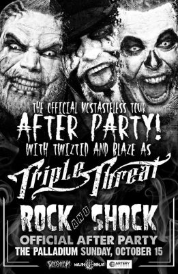 Rock and Shock Announces Triple Threat (Twiztid and Blaze) After Party